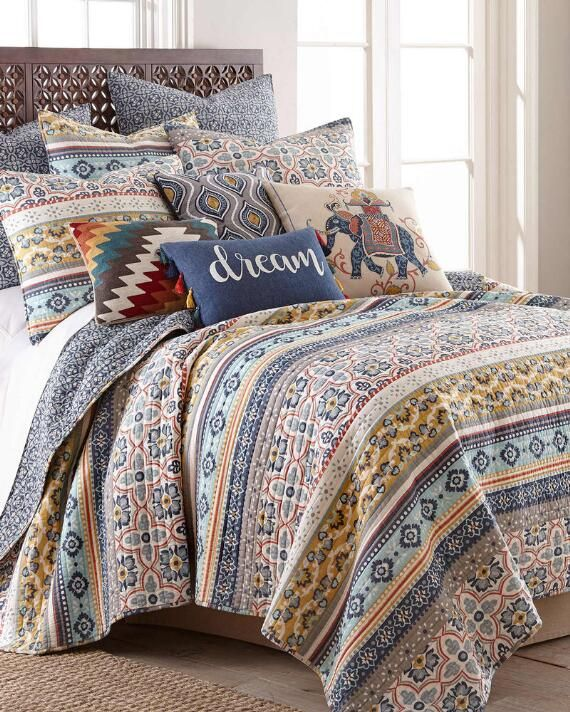 McKenna Reversible Patterned Luxury Quilt | Bedroom Ideas | Quilt ...