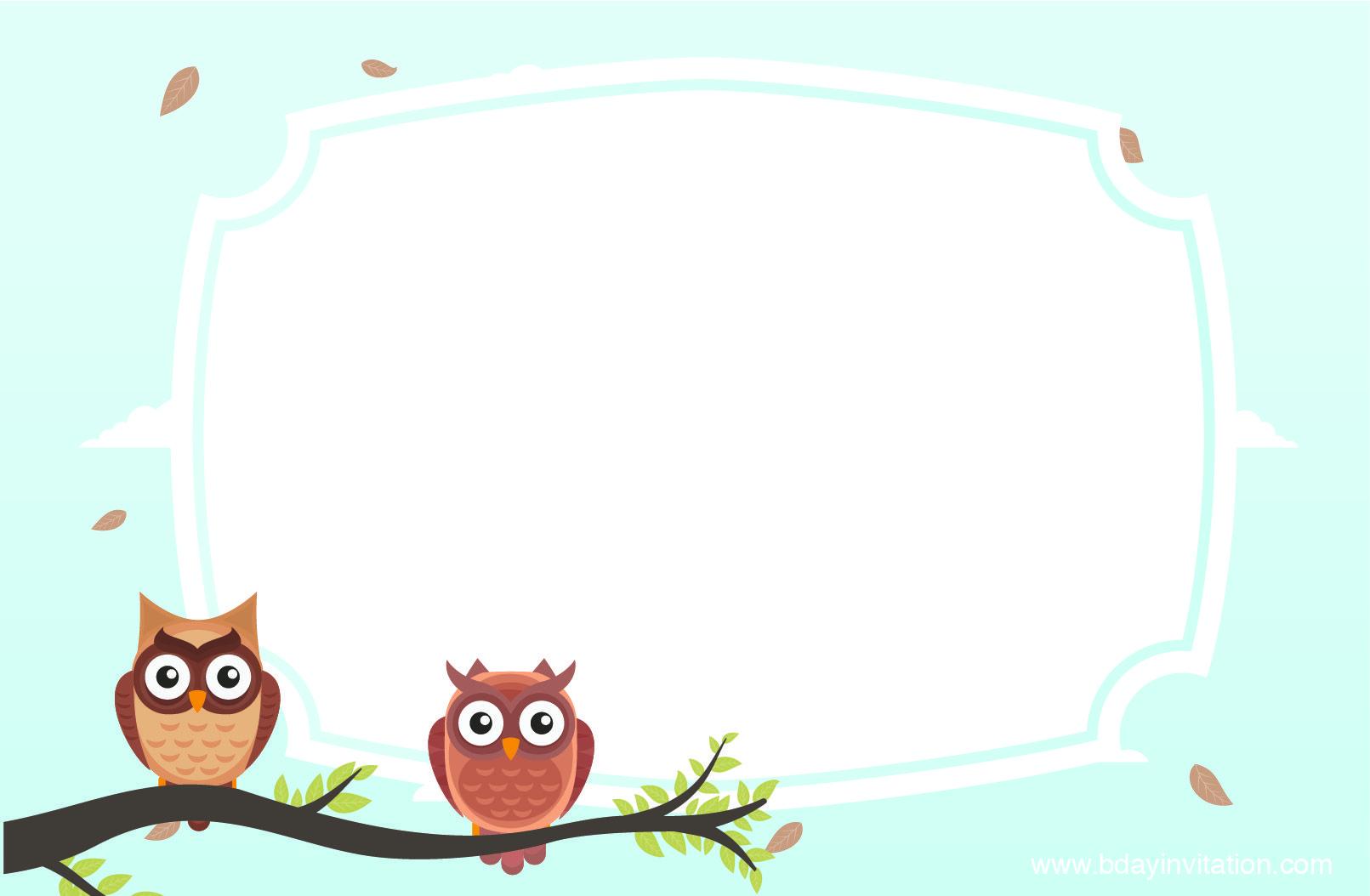 Download FREE Printable Owl Birthday Invitation Template | FREE ...