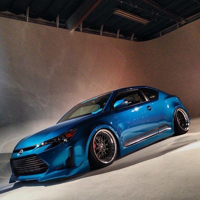 Scion Tc Blue Scionofnaperville Toyotaofnaperville Aero Bodykit Slammed Stance Tuner Cars Modified Cars Scion Tc