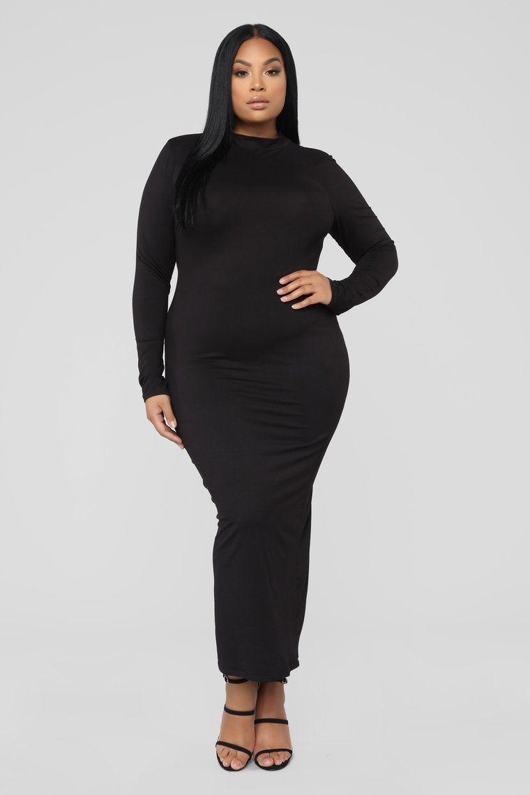 Full Coverage Maxi Dress Black Tube maxi dresses