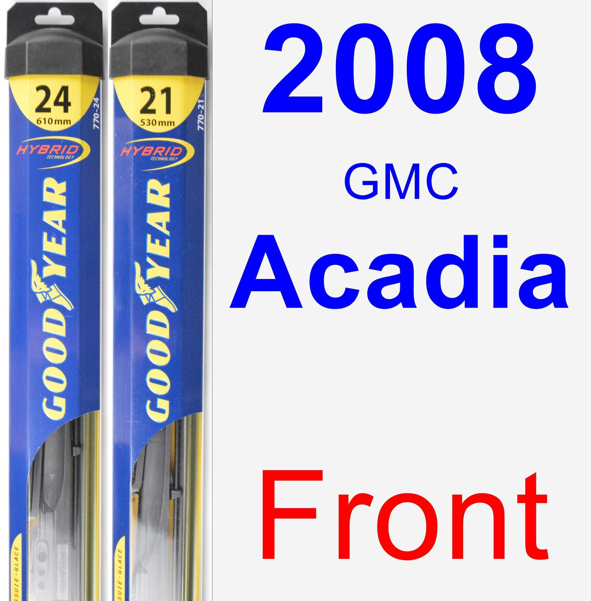 Front Wiper Blade Pack For 2008 Gmc Acadia Hybrid Wiper Blades
