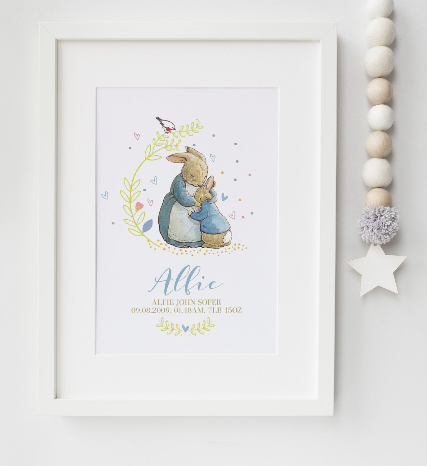 Personalised Newborn Baby Girl  Gift Present Christening Keepsake Moon Cross