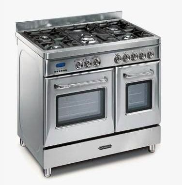 Betere Fratelli Onofri - CH 192.50 5-pits fornuis met dubbele oven donker AE-76
