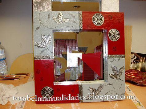 Rosabel manualidades marcos para espejos marcos espejos for Marcos para espejos de sala