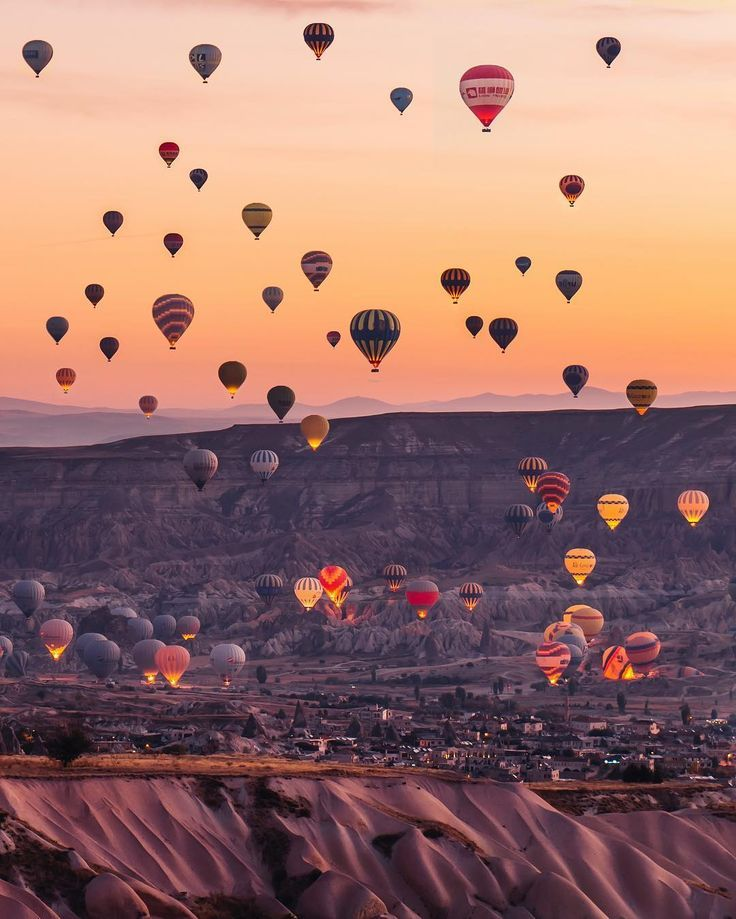 Hot air balloons  flying over Cappadocia -Turkey  // Photography by _ K T I A c o l o r f u l (@katia_mi_)  - -