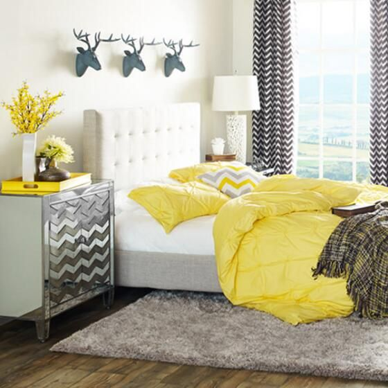 Spencer Custom Bed with Tufted Beige headboard - Urban Barn | A ...