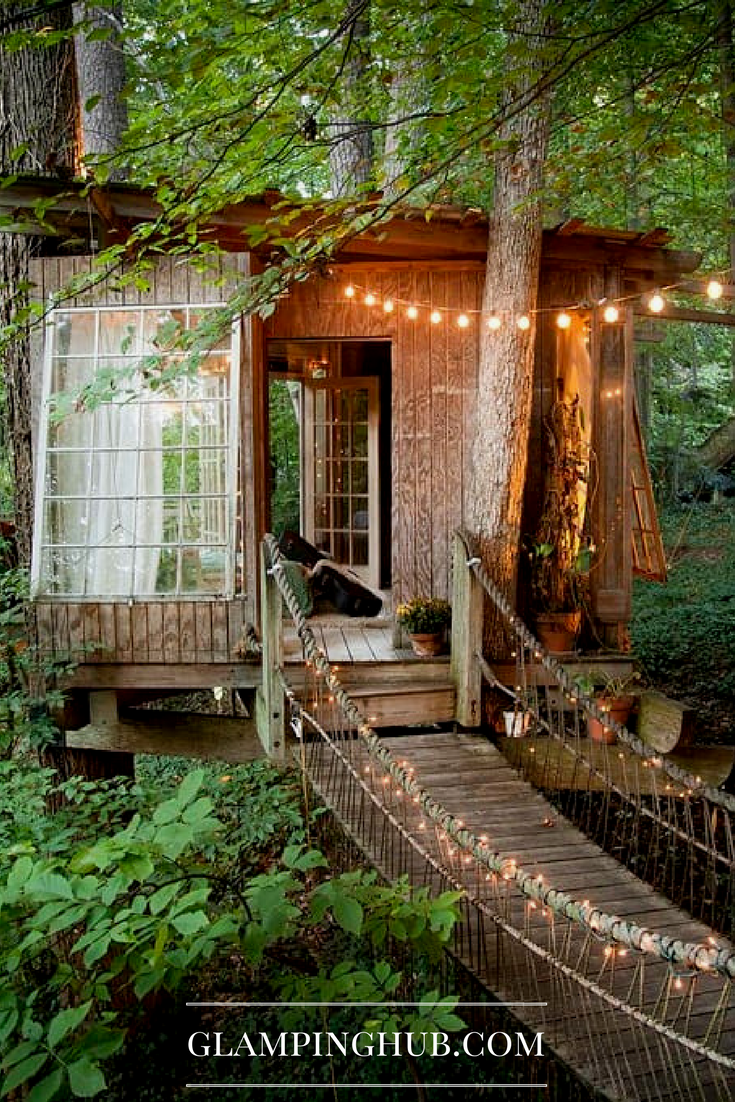 Chic Tree House Cabin Getaway With Vintage Decor In