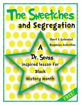 FREE - Short & Extended Response Activities - A Dr. Seuss inspired lesson for Black History Month