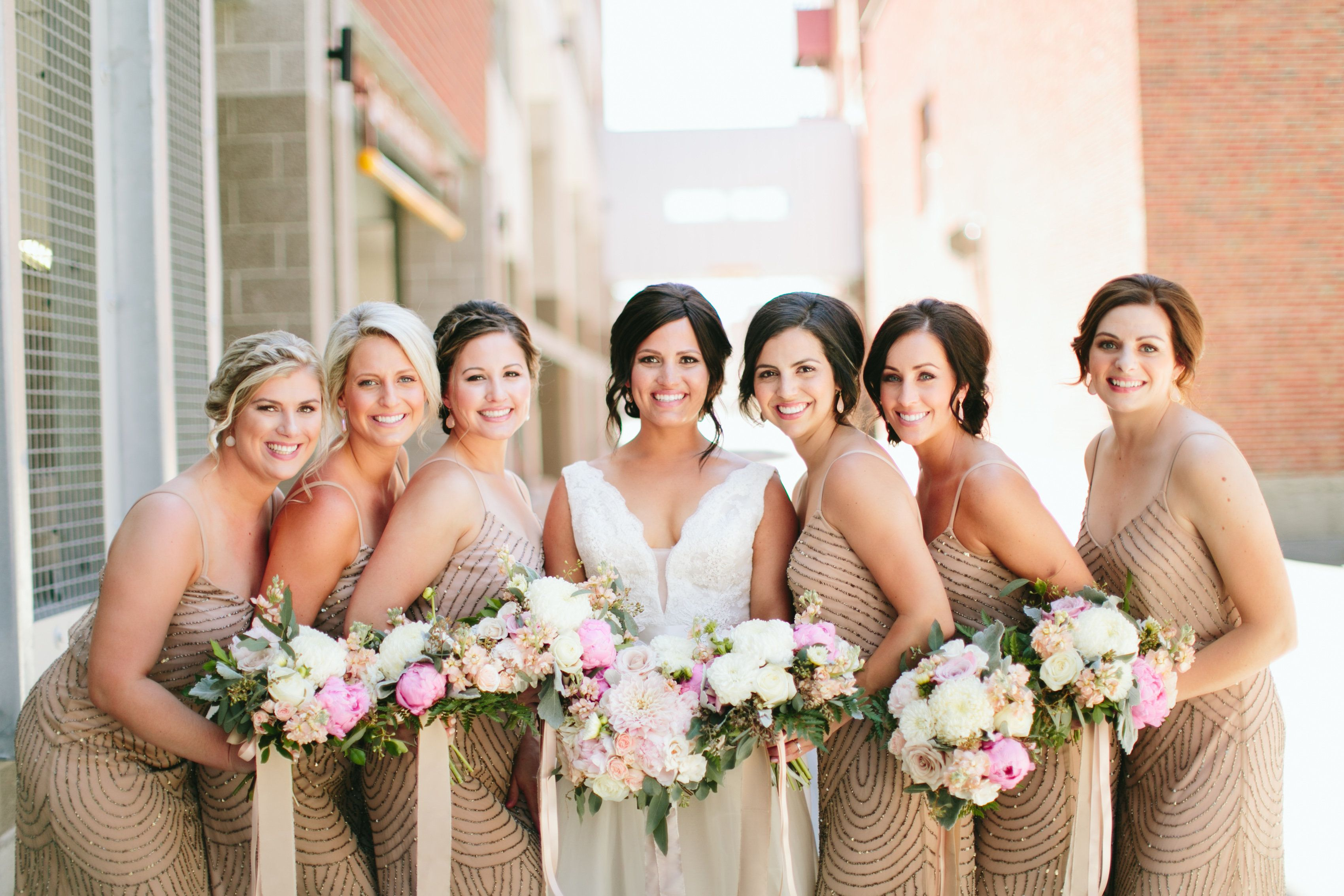 Beautiful Blush And Ivory Summer Wedding Billings, MT