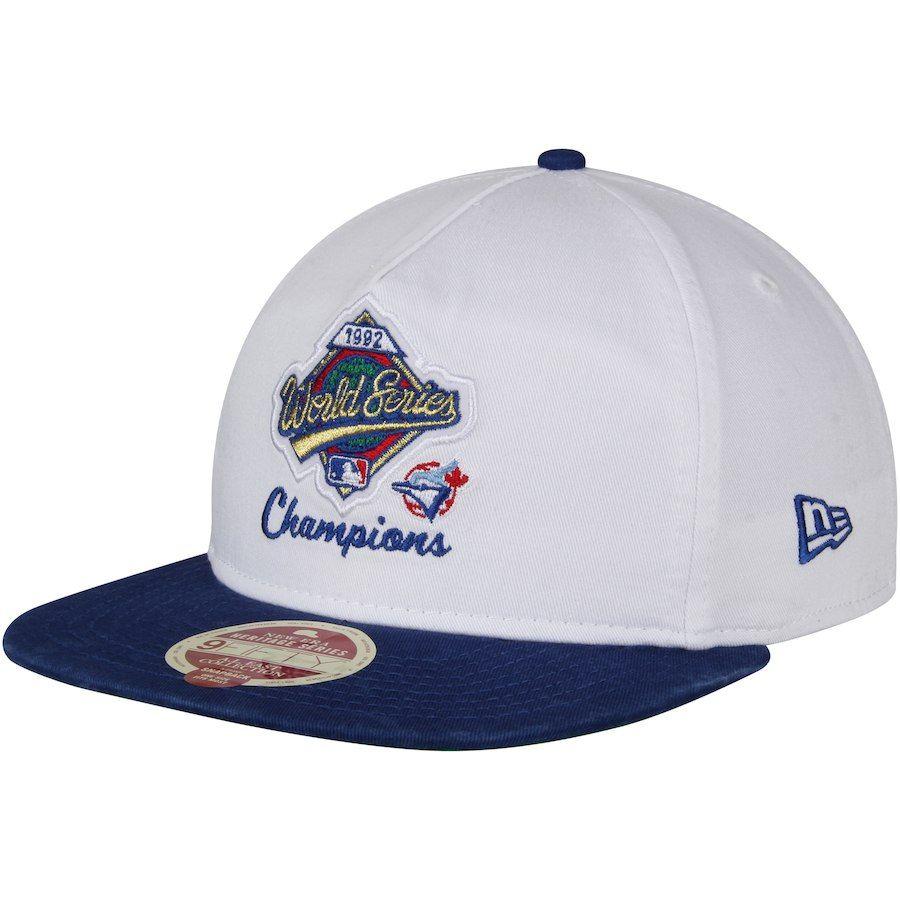 753876d20f7e7 Men s Toronto Blue Jays New Era White Royal American League East World  Series Champions A-Frame Snapback Adjustable Hat