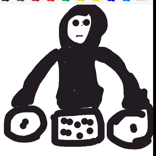 Me drawing DJ on drawsome. Lol.