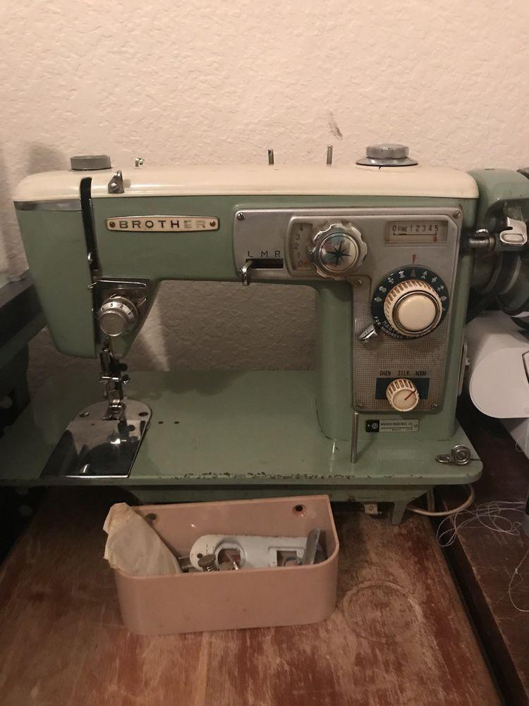 Vintage Brother Sewing Machine Avocado Green Brother Sewing Machine Brother Sewing Machines Sewing Machines Best