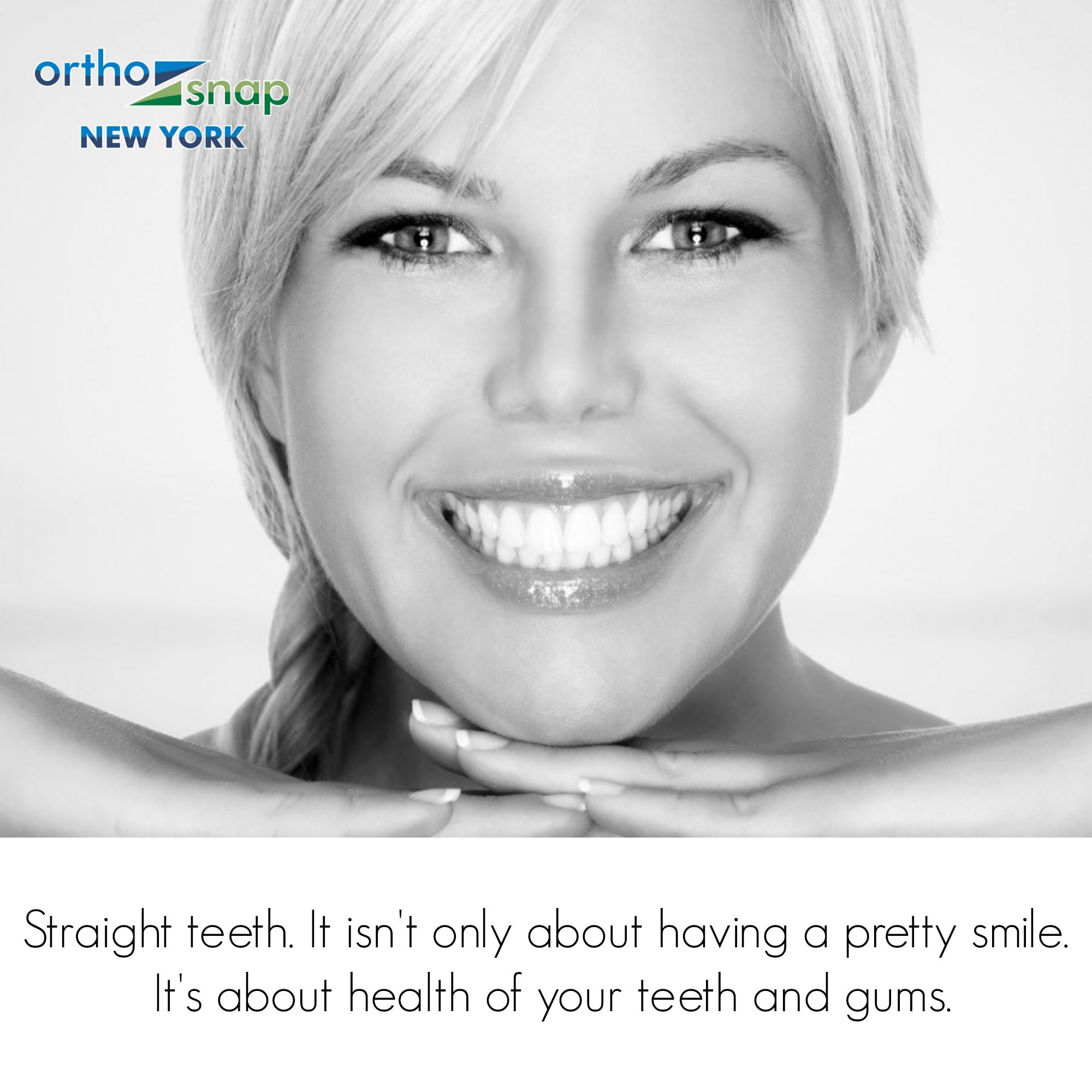 ..and now you can STRAIGHTEN TEETH without unsightly and