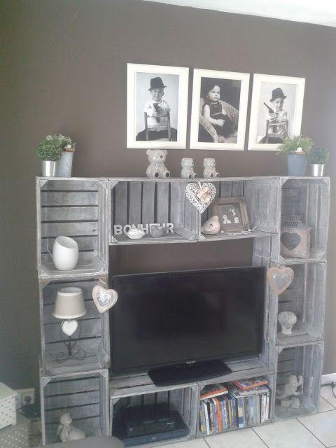 C mo decorar con cajas de madera cualquier estancia de tu - Decoracion con reciclaje para el hogar ...