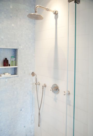 Shower wall blue sky med dark polished marble 1 square mosaic complete tile collection park avenue residence master bath blue sky shower tyukafo