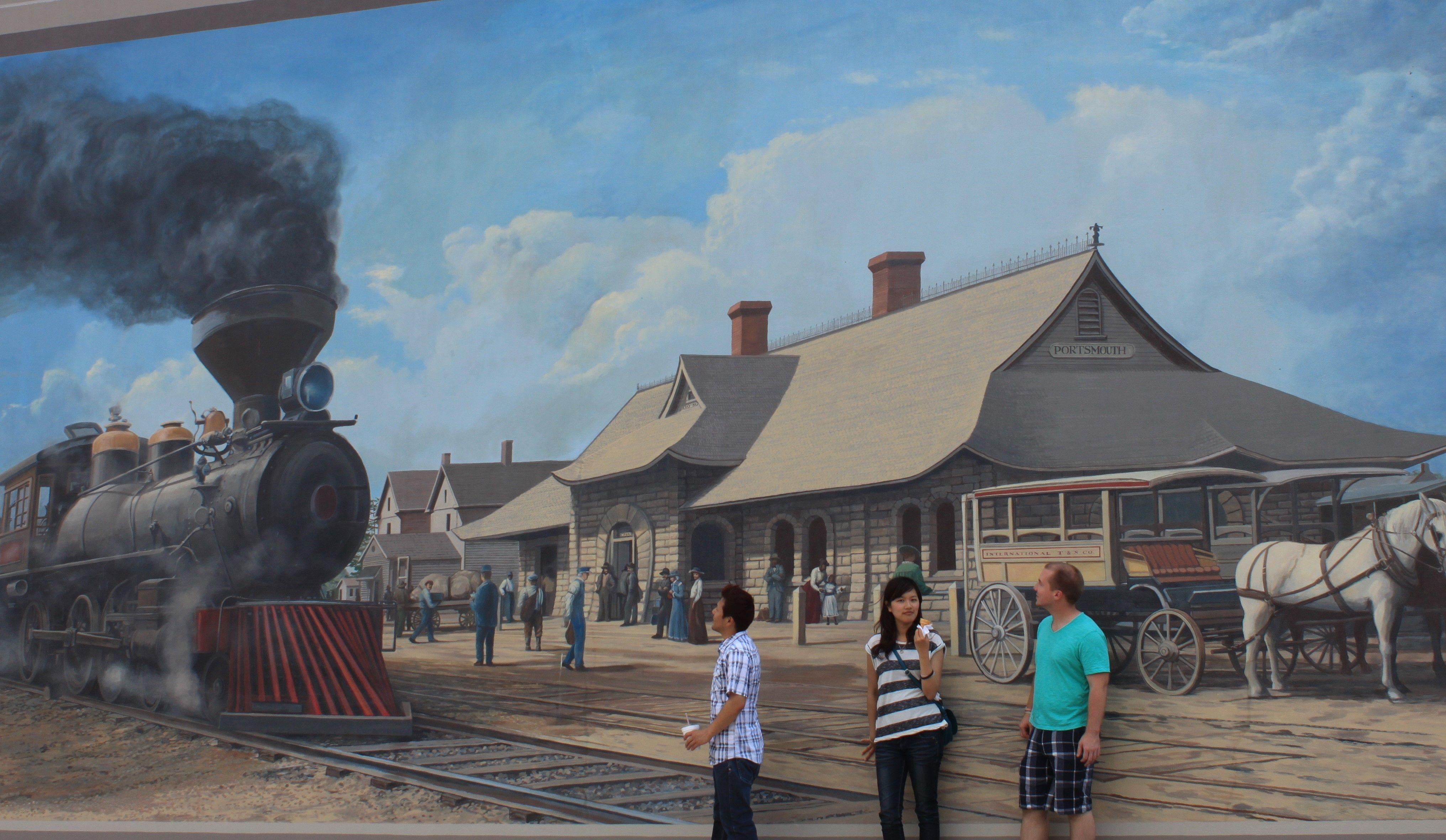 Floodwall Murals, Portsmouth, Ohio
