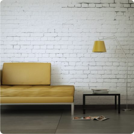 This Removable White Brick Wallpaper Design Is Light And Minimalist But Brings Texture Interest To