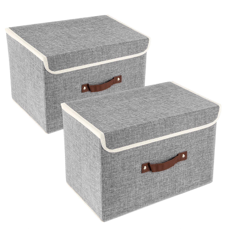 Cajas De Tela Cajas De Almacenaje Decorativas Cajas De Almacenamiento Cajas Almacenaje Ropa