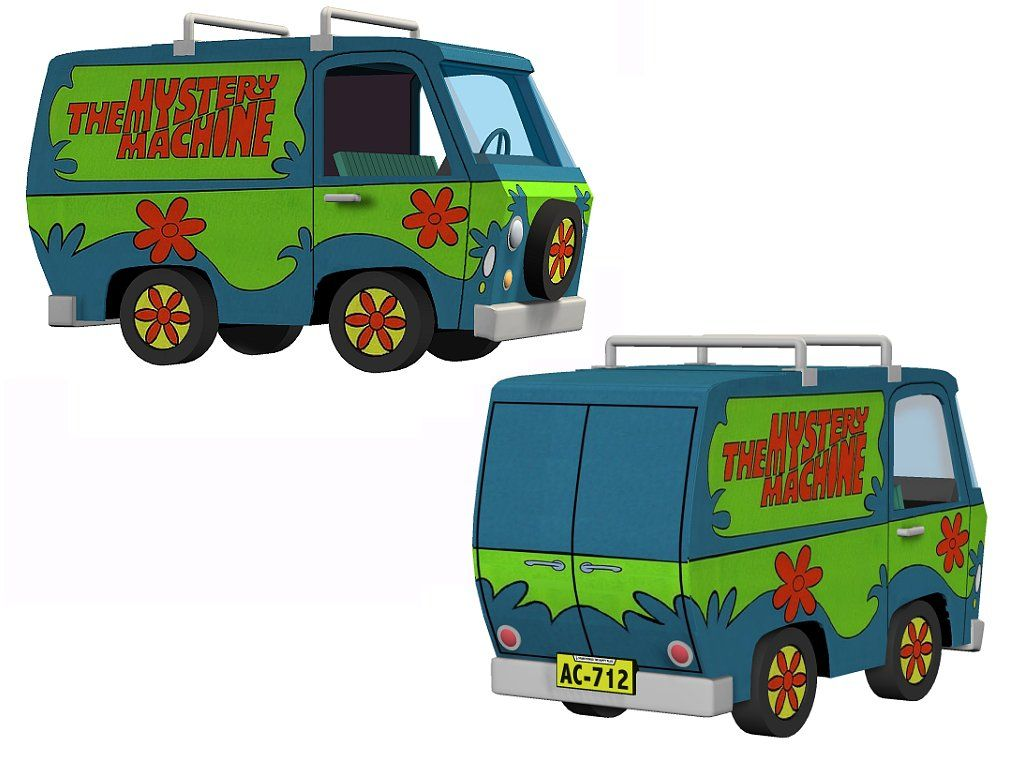 Mystery machine van from the classic cartoon series scooby doo different pinterest voiture - Voiture de scoubidou ...