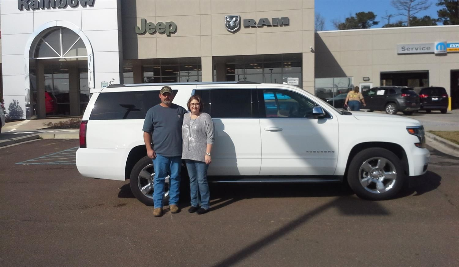 David And Francesu0027s New 2016 CHEVROLET SUBURBAN! Congratulations And Best  Wishes From Rainbow Chrysler Dodge