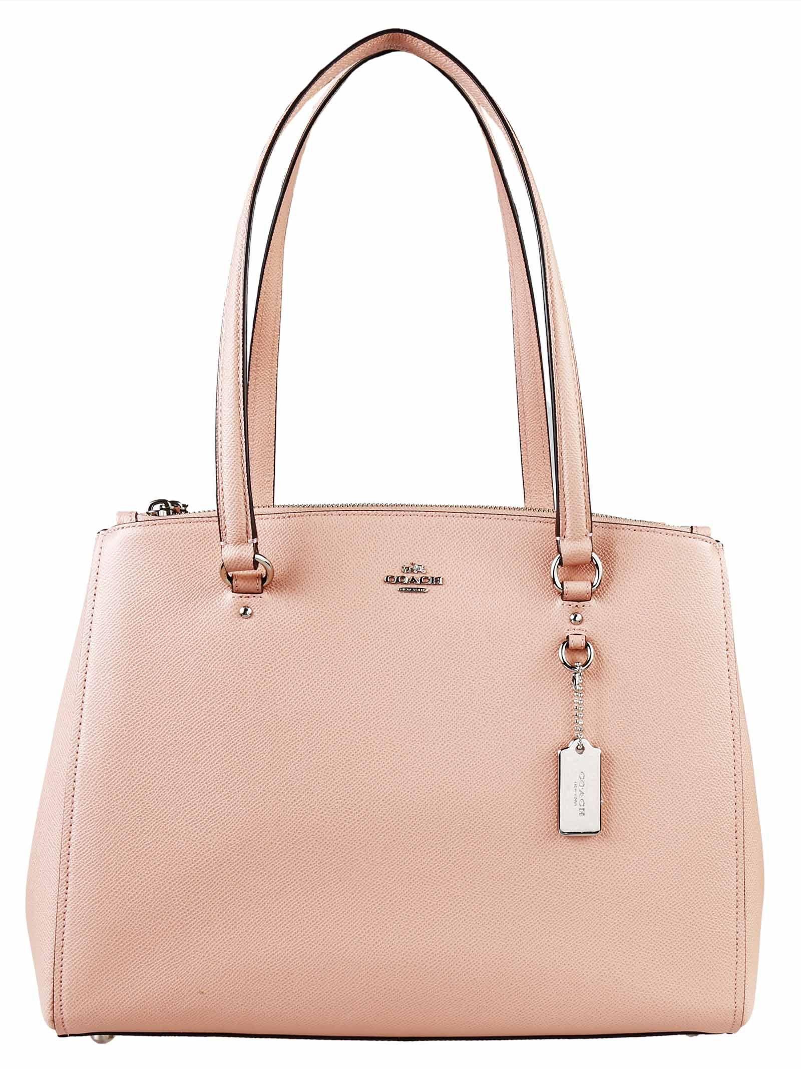 c9c4ba250 ... promo code for coach stanton crossgrain leather bag in pink blush lyst  97dd6 45df3