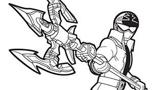 power rangers megaforce coloring pages # 13