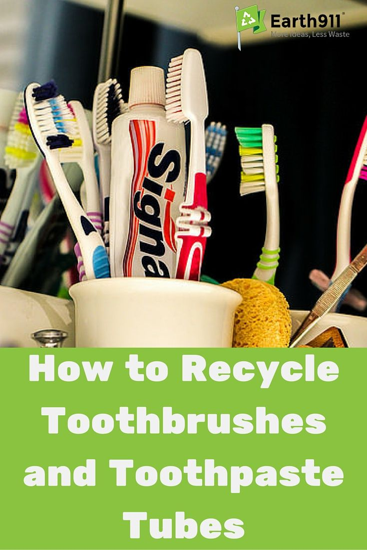 recycling mystery toothbrushes toothpaste tubes repurpose and reuse