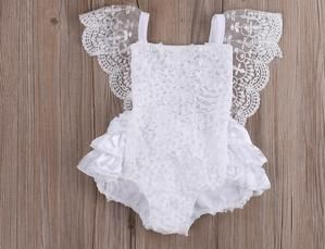 ****CUSTOMER FAVORITE Amy White Lace Vintage Romper