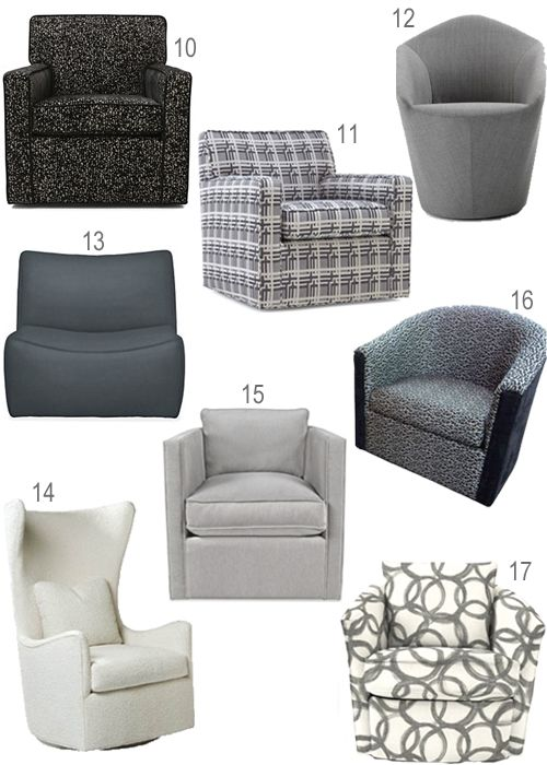 Swivel Chair Small Chicco High That Attaches To Table Get The Look Upholstered Chairs In Every Color Stylecarrot Grey