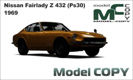 Nissan Fairlady Z 432 Ps30 1969 3d Model 3ds 3dm Dwg