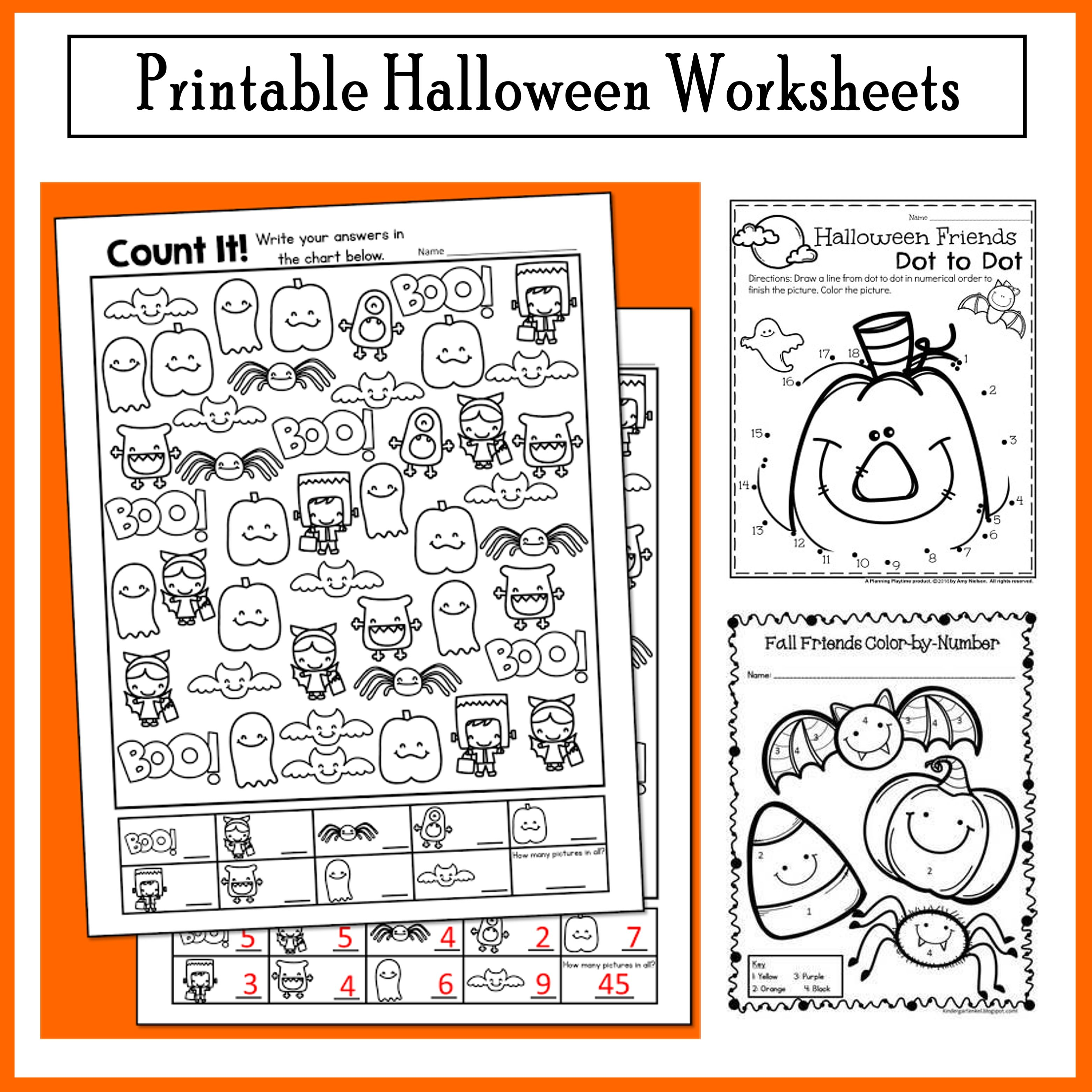 Halloween Freebie Activities Count It And More