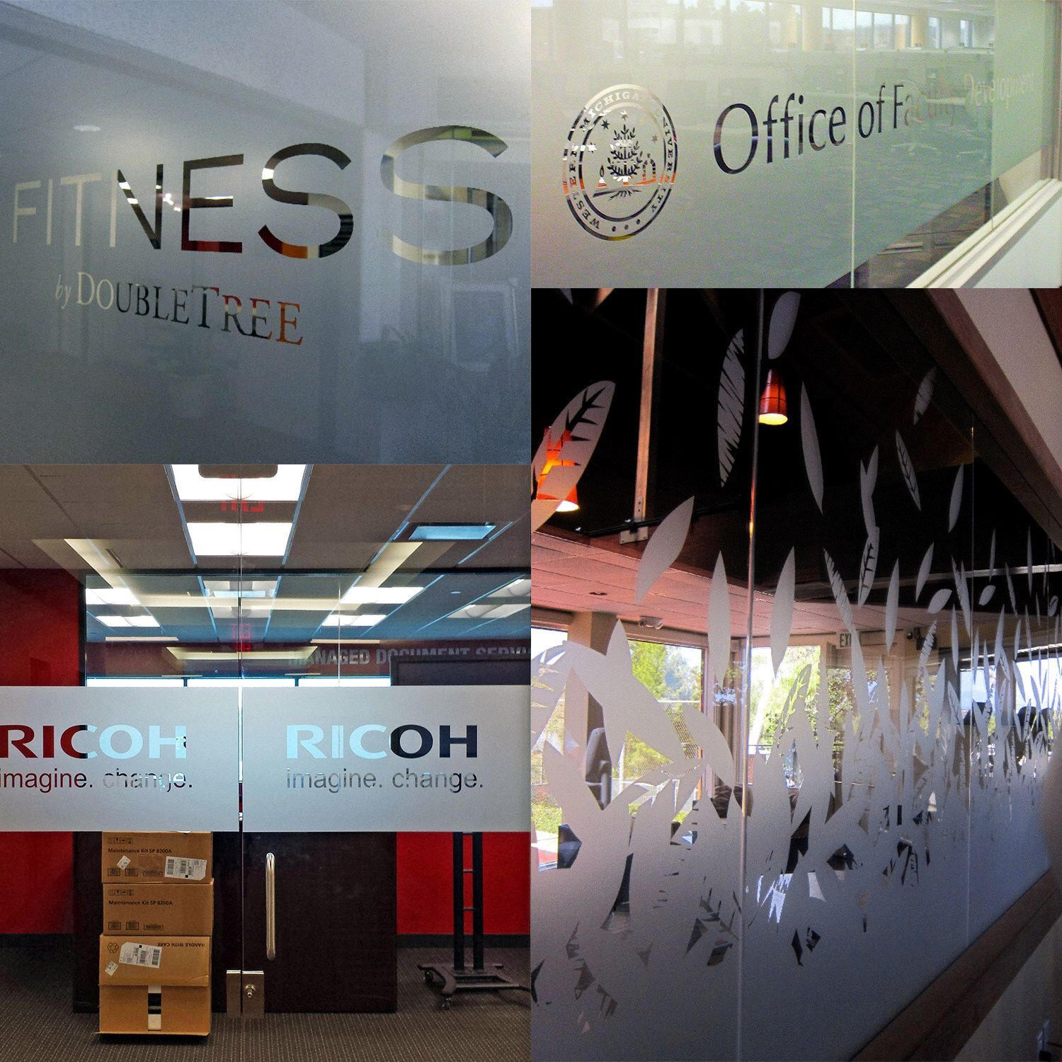 Custom Personalized Etched Vinyl Graphics For Glass Office - Custom window vinyl graphics