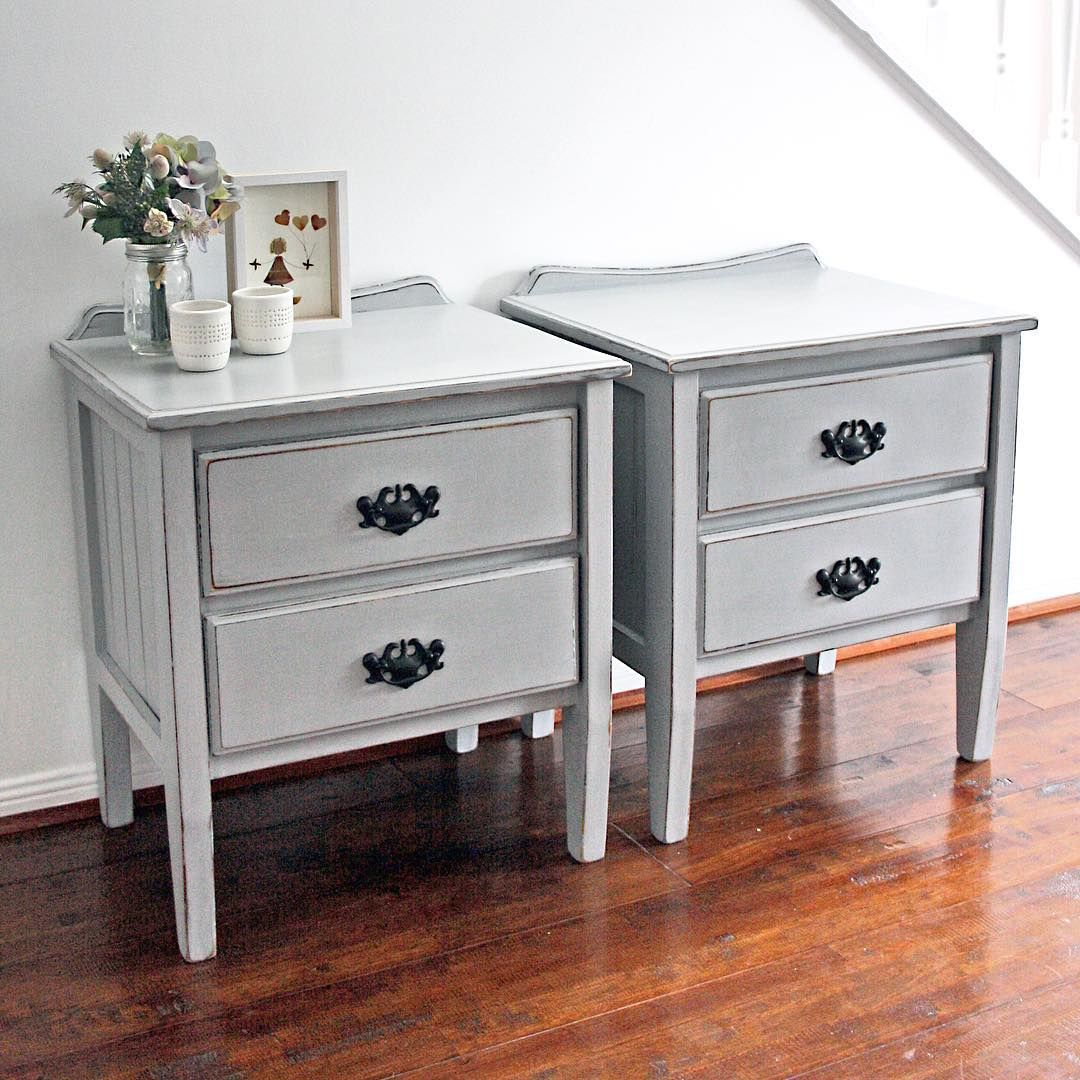 Paris Nightstand: SOLD -- Pair Of Gorgeous Country Style Bedside Tables In