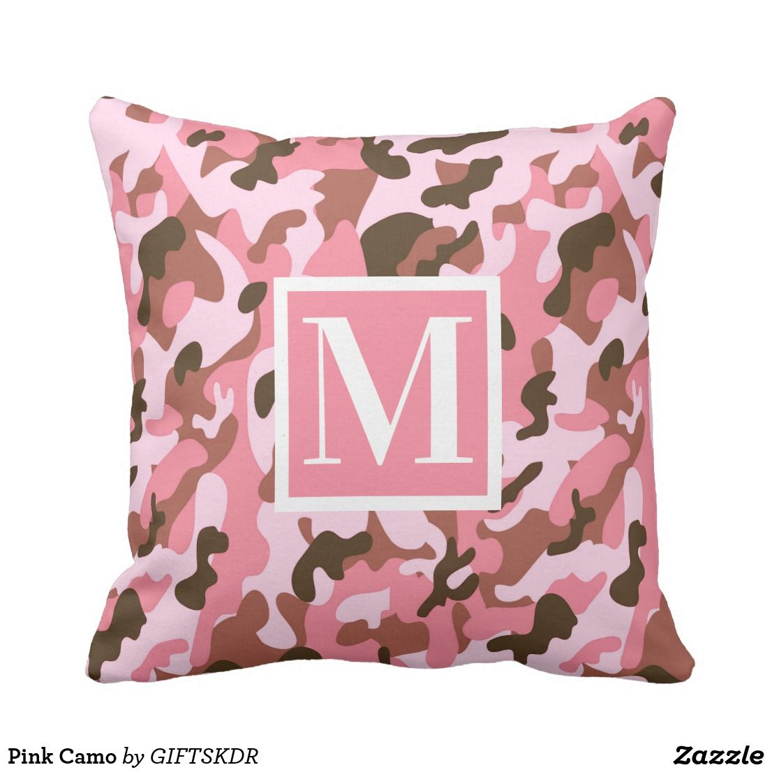 Pink camo throw pillow in nicelooking pillow designs