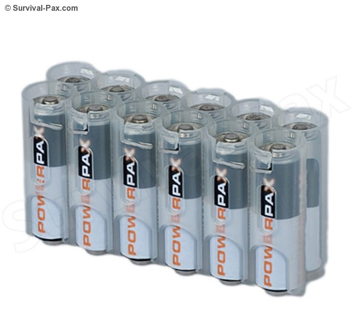 Powerpax Storacell 12 Pack Aa Battery Caddy Clear Charger Accessories Battery Storage Aa Batteries