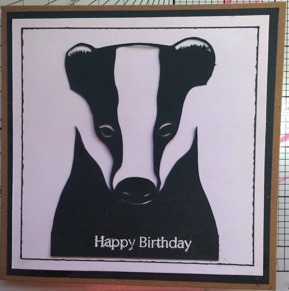 A Birthday Card I Was Commissioned To Do For A Badger Mad Lady Badger Moose Art Birthday Cards