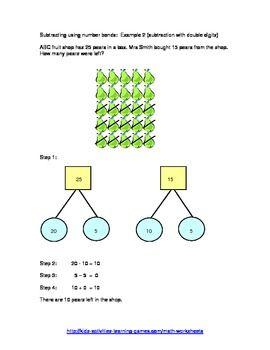 Subtraction Story Word Problems using Number Bonds Grade K-2 ...