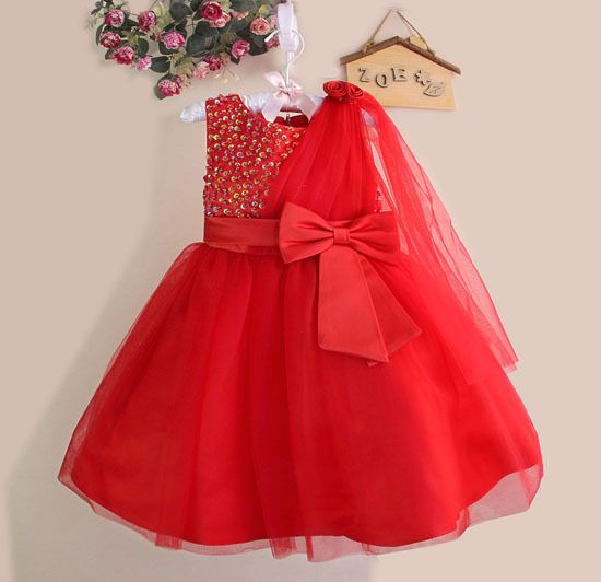 Kids Partywear Dress Party Frock For Girls Kids Birthday