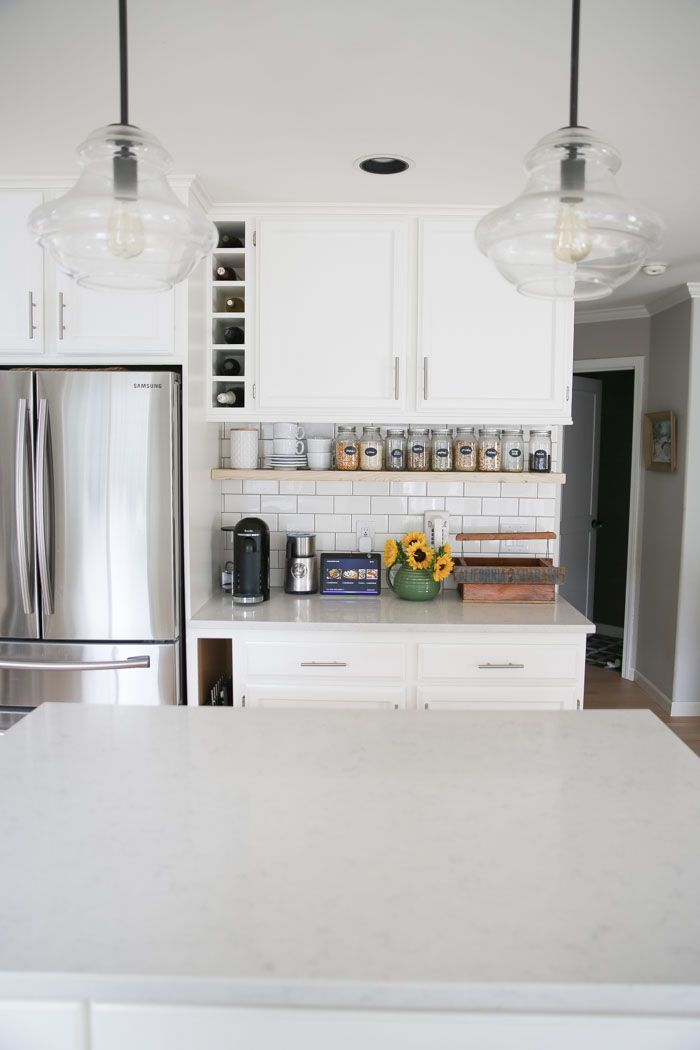 our semi budgetfriendly white kitchen remodel  kitchen