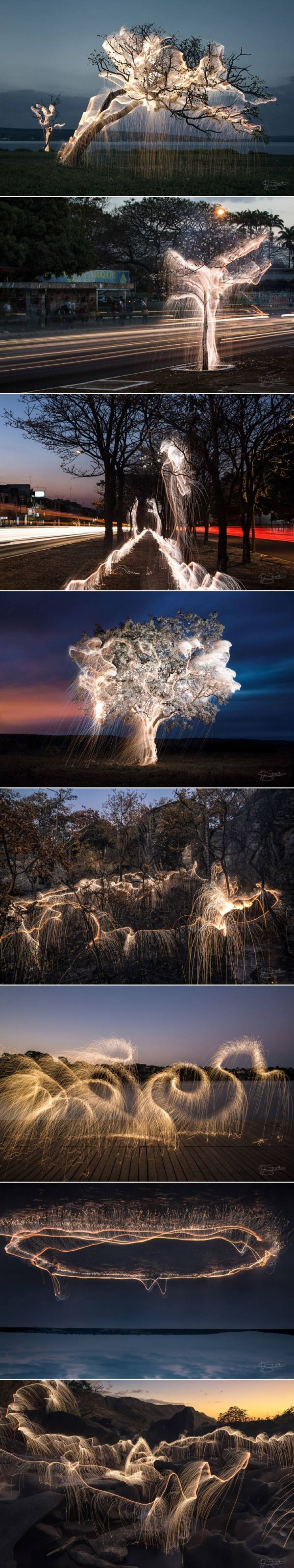Light Painting Photography in Nature and Cities by Vitor