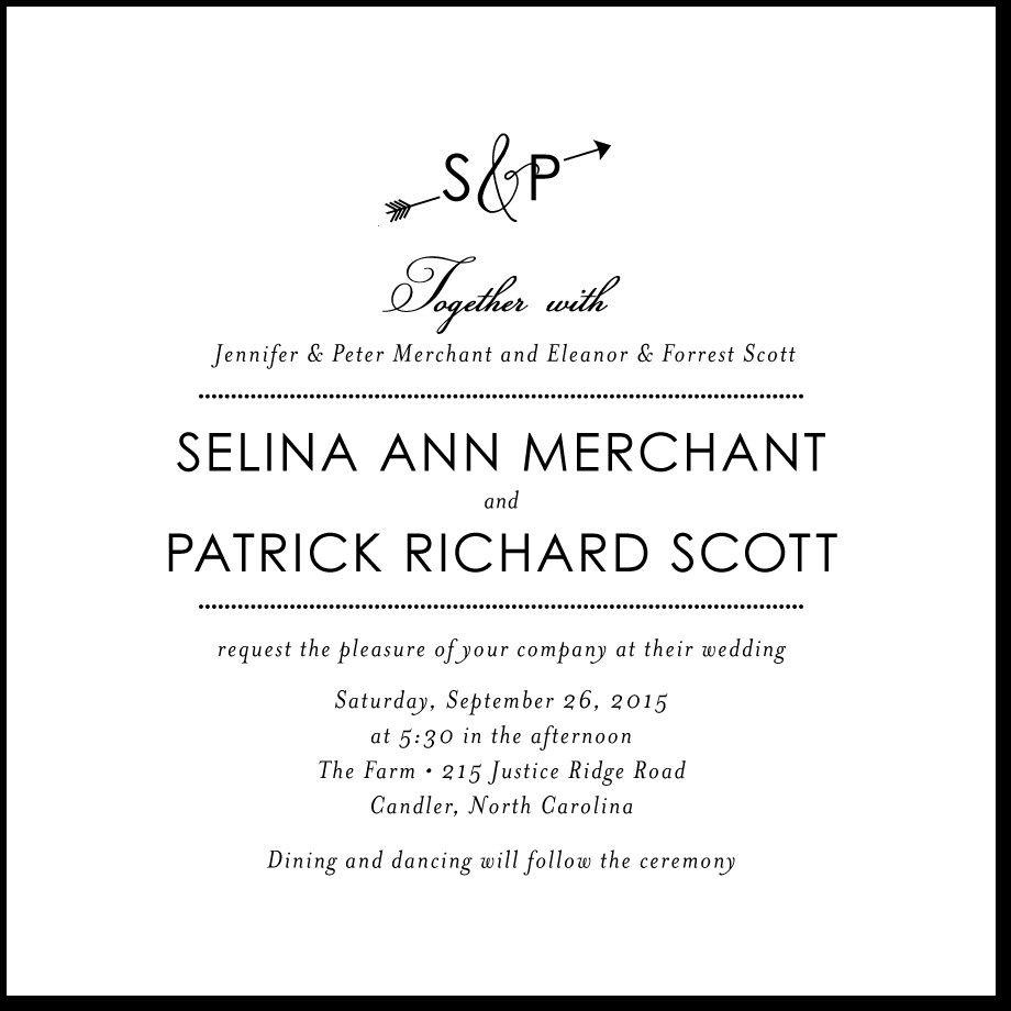 Image result for wedding invitation wording both parents hosting