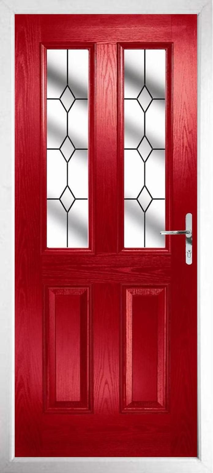Style c red clear diamonds red pinterest composite front style c red clear diamonds black front doorsred rubansaba