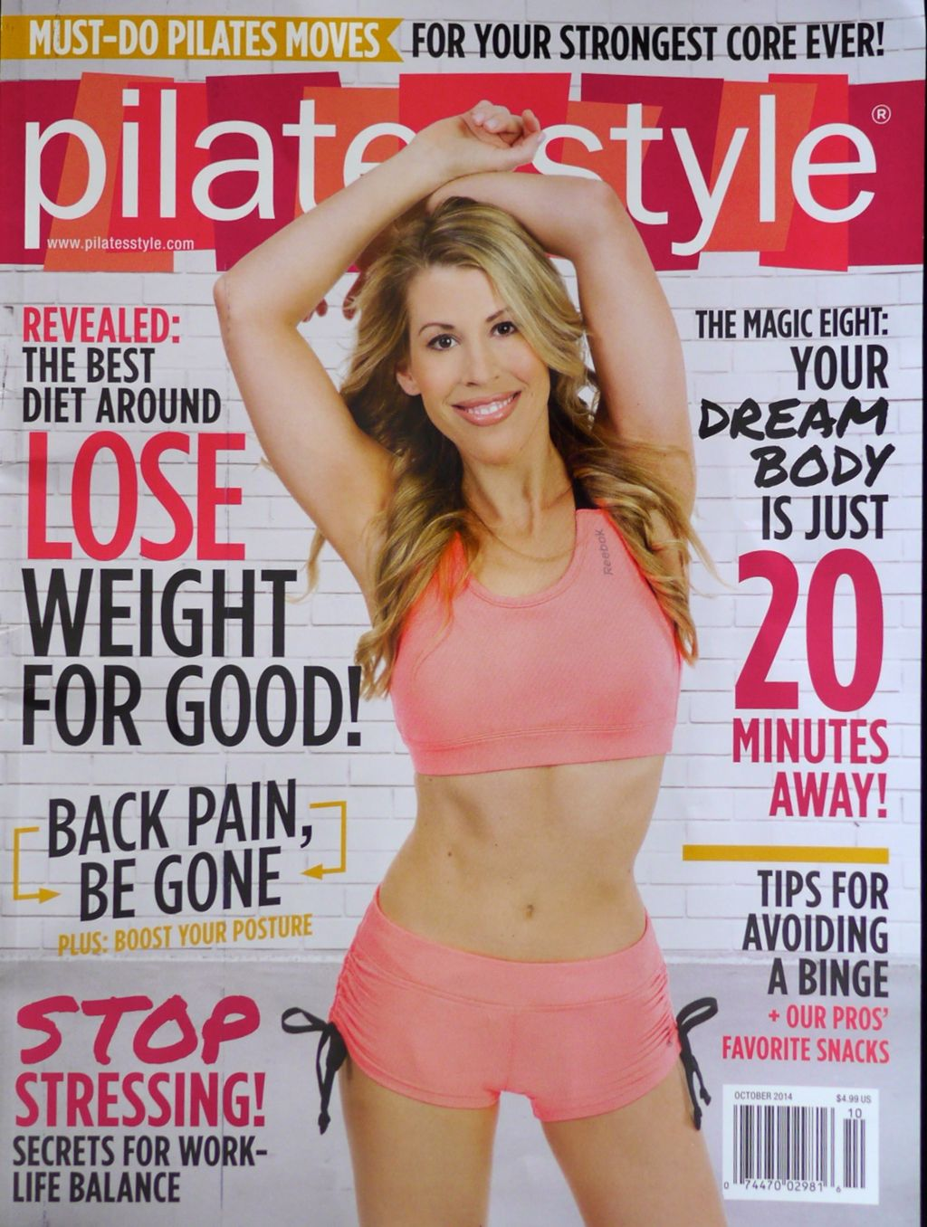 Andrea Speir on the cover of Sept/Oct issue of Pilates Style Magazine