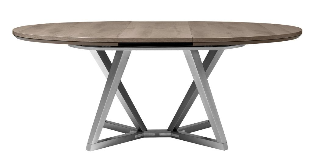 SETIS Oval table Structure made from solid wood and E14