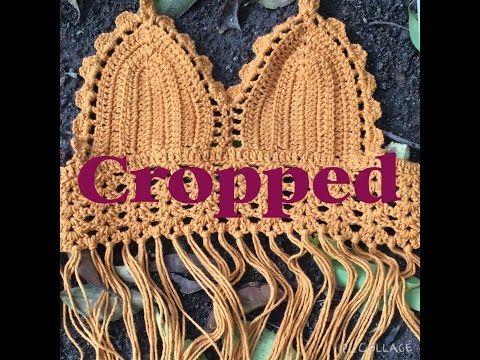 Festival Boho Crochet Fringe Crop Top - YouTube