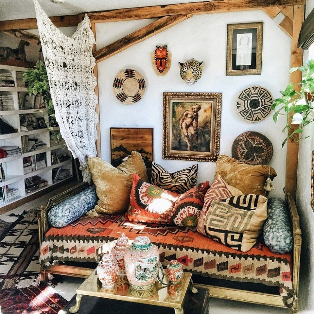 rustic bohemian studio apartment   Rustic And Cozy Boho Cabin Makeover On A Budget (6 ...