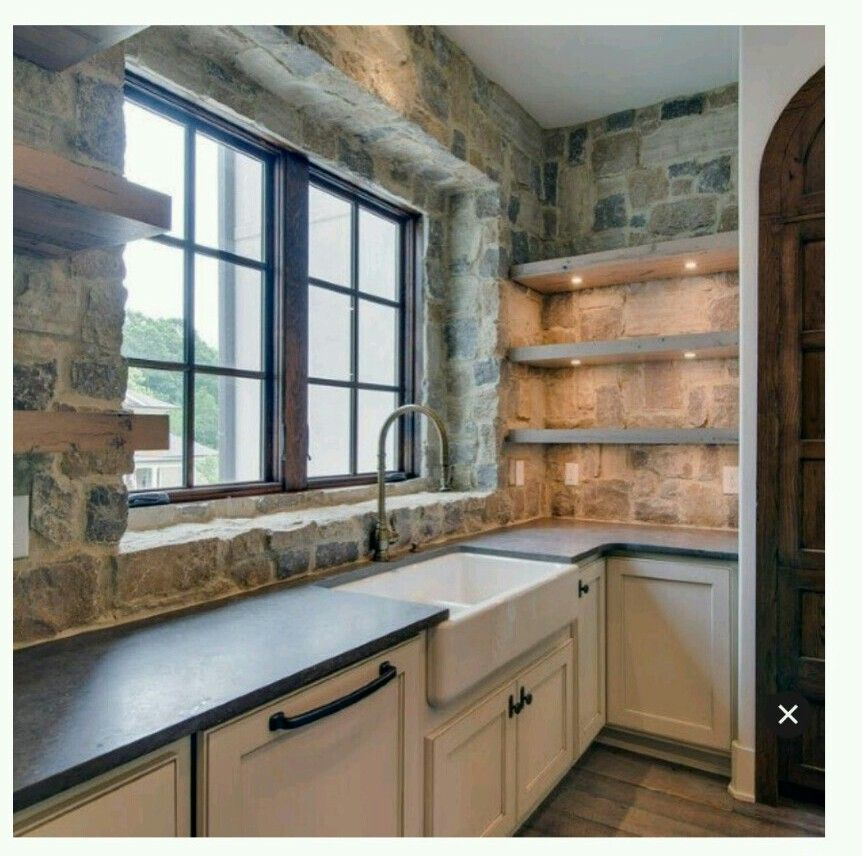 Pin By Buttox On Kitchen In 2019 Stone Kitchen Rustic Kitchen