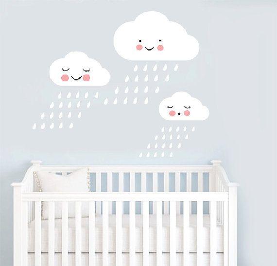 Inyl Stickers Vinyl Wall Decals Vinyl Wall Stickers Сloud - Nursery wall decals clouds