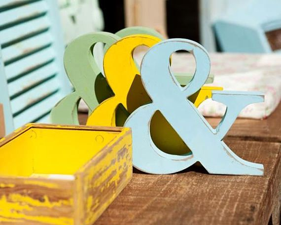 free standing wood letter, 3d wood symbol, wedding table center ...