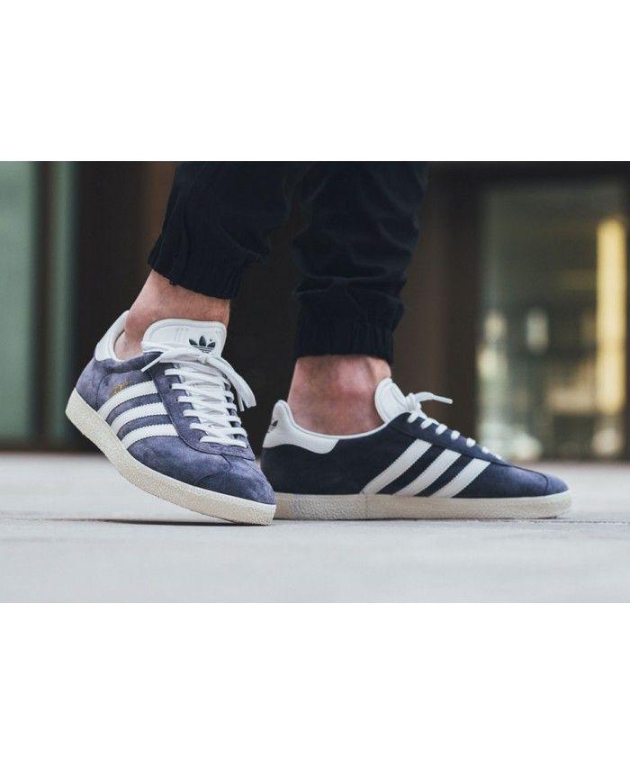 Adidas gazzella vintage confezione blu moda a buon mercato, allenatore di camoscio